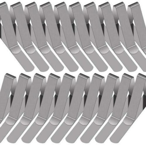 30 packs tablecloth clips stainless