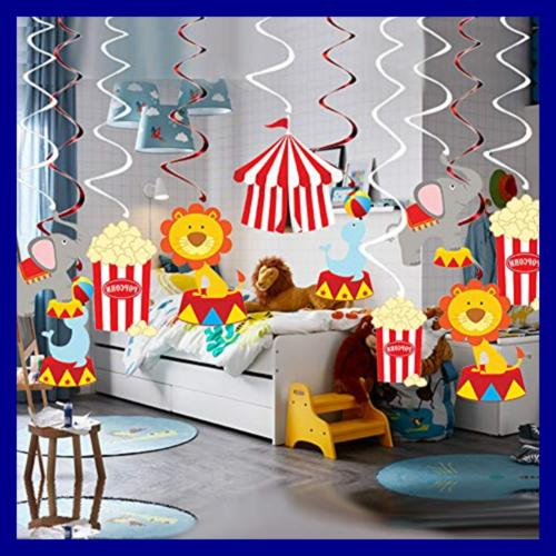30Ct Hanging Decorations Carnival Party Supplies Fan
