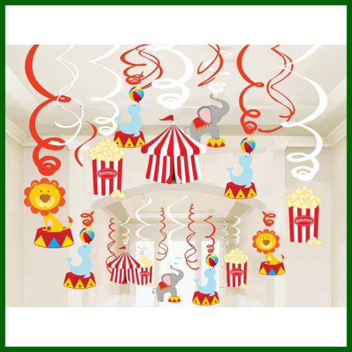 30Ct Circus Decorations Carnival Supplies Fan