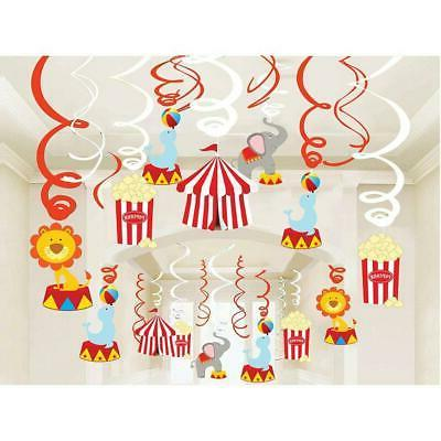 30ct circus hanging swirl decorations carnival birthday