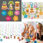LeeSky 30pcs Hawaiian Luau Hanging Swirl Party Decoration Su