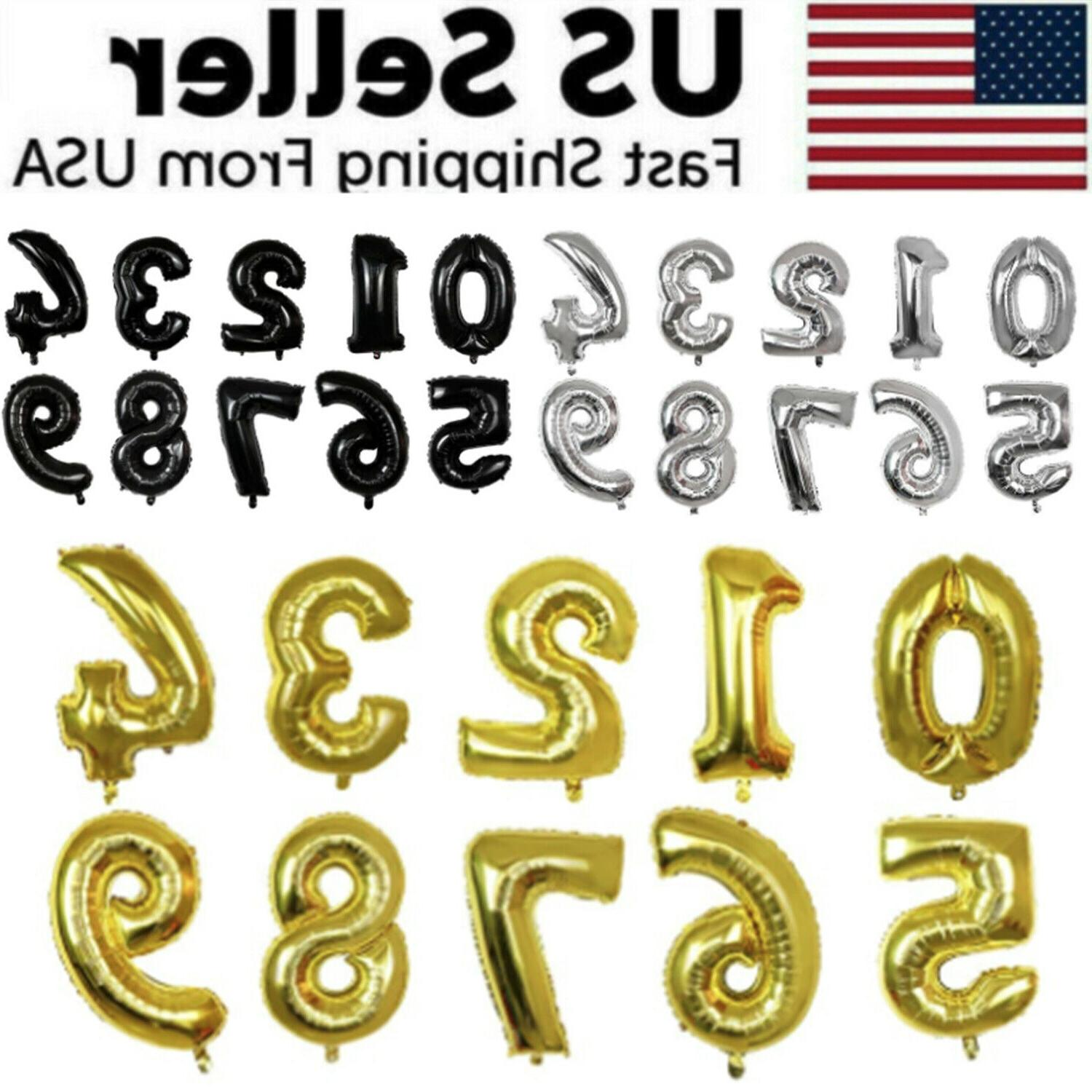 32 large number foil balloon digit balloons