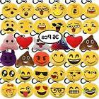 36 pack grownup toys emoji plush keychain