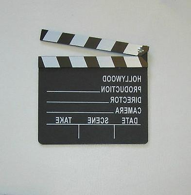 1 NEW MOVIE DIRECTOR'S CLAPBOARD PROP HOLLYWOOD CLAPPER CHAL