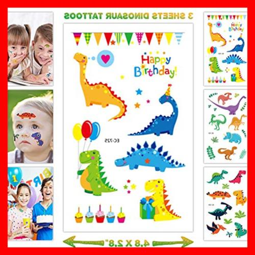 44 Dinosaur Birthday Party Decorations For Kids 3D Happy Ba