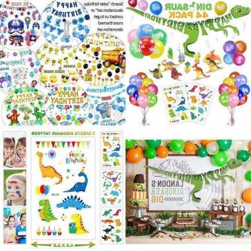 44 pack dinosaur birthday party decorations