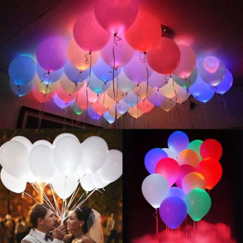 50-150 Pack LED Balloons Light Up Decoration Wedding