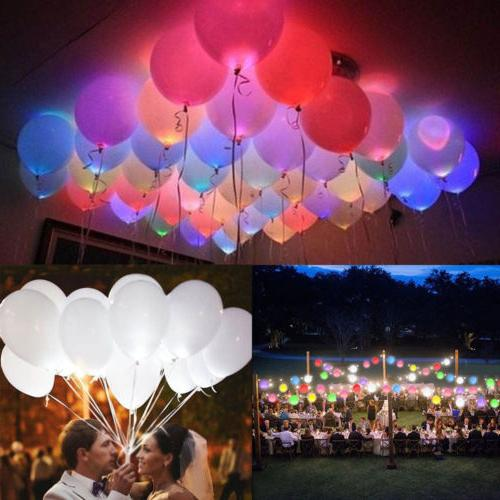 50 150 pack led balloons light up