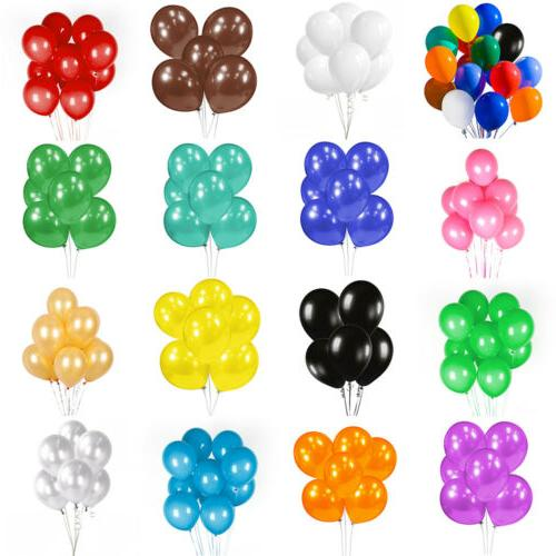 """50/100PCs Assorted Latex Bulk 12"""" For Wedding Party"""