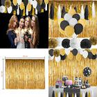 Paxcoo 52 Pcs Black and Gold Party Decorations with Balloons