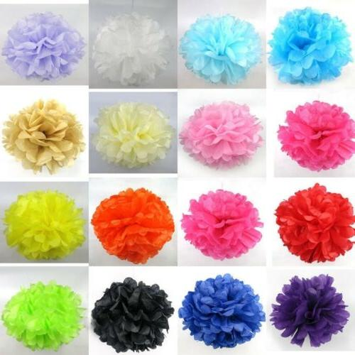 "5PC Paper Pom Poms 6"" 8"" 10"" 12"" Tissue Baby Shower Party We"