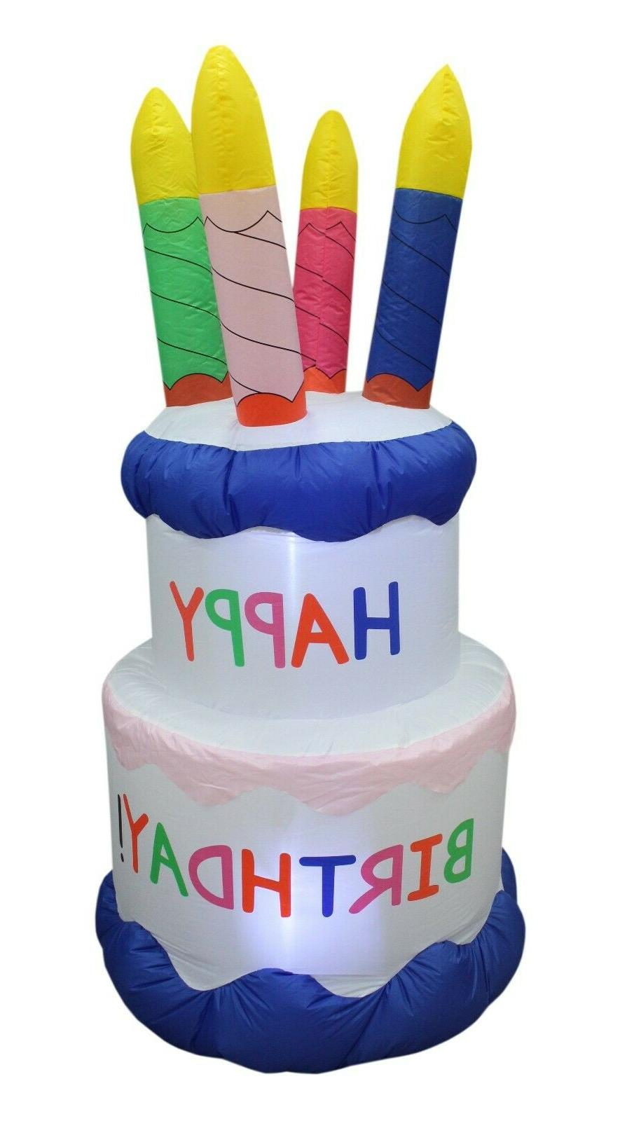 6 foot tall inflatable happy birthday cake