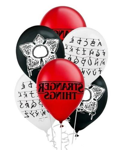 6pc stranger things balloons birthday party supplies
