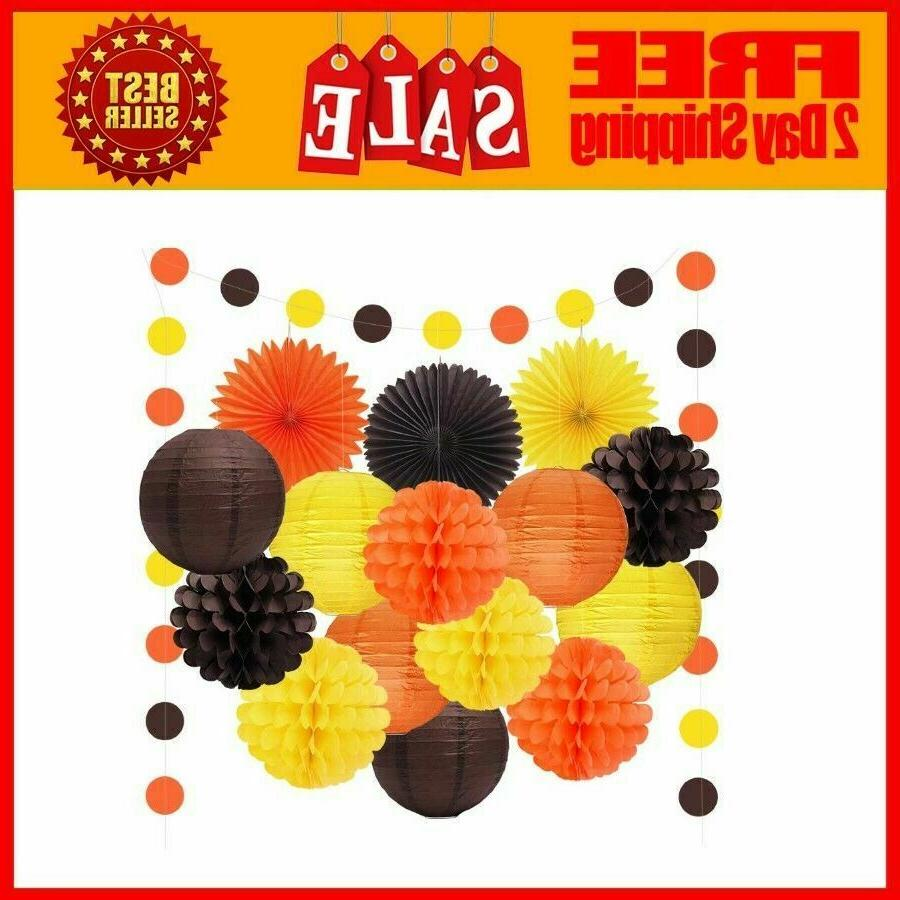 6pcs happy fall thanksgiving day party decorations