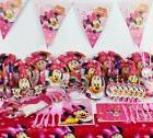 78pcs minnie mouse baby birthday party decorations kids evne