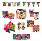 80 s themed party tableware and decorations