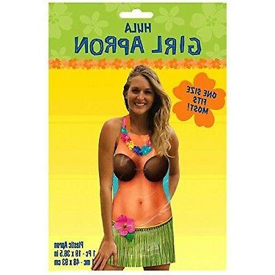 Summer Luau Party Hula Girl Apron Wearables, 1 Piece, Made f