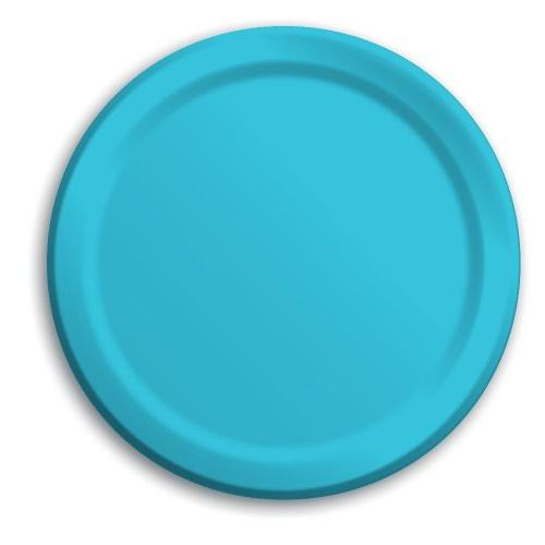 Touch of Color 24 Count Paper Dessert Plates, Bermuda Blue