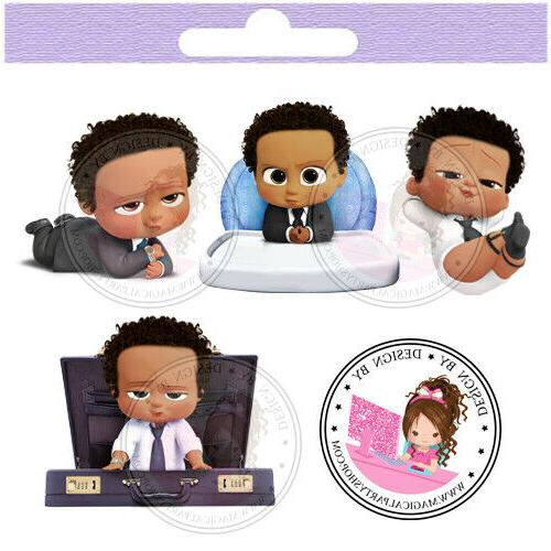 african american boss baby centerpieces cut outs