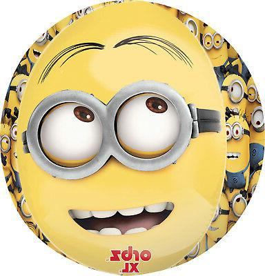"Anagram International Despicable Me Orbz Balloon Pack, 16"","