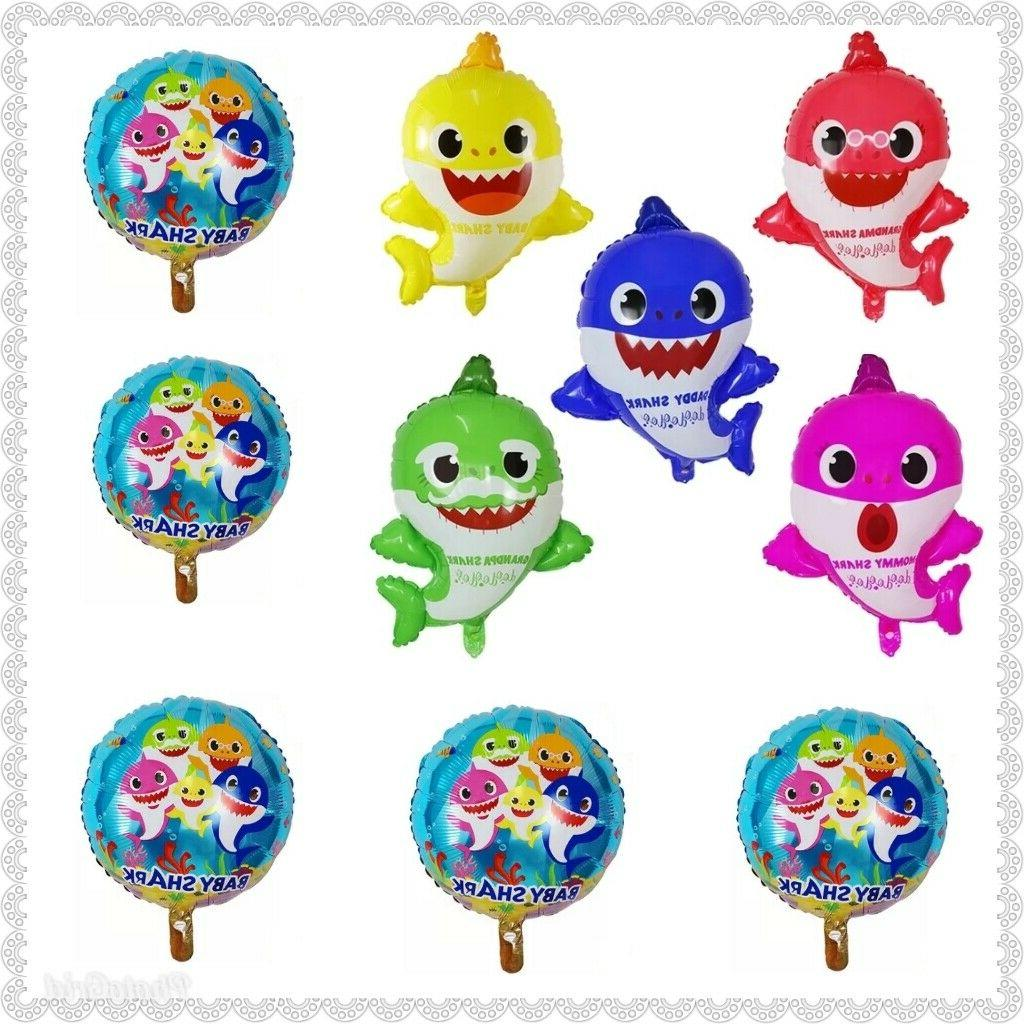 balloons party decorations mommy daddy shark