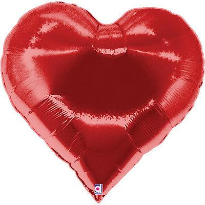 "Oaktree Betallic 30"" Heart Balloon Birthday Party Wedding Va"