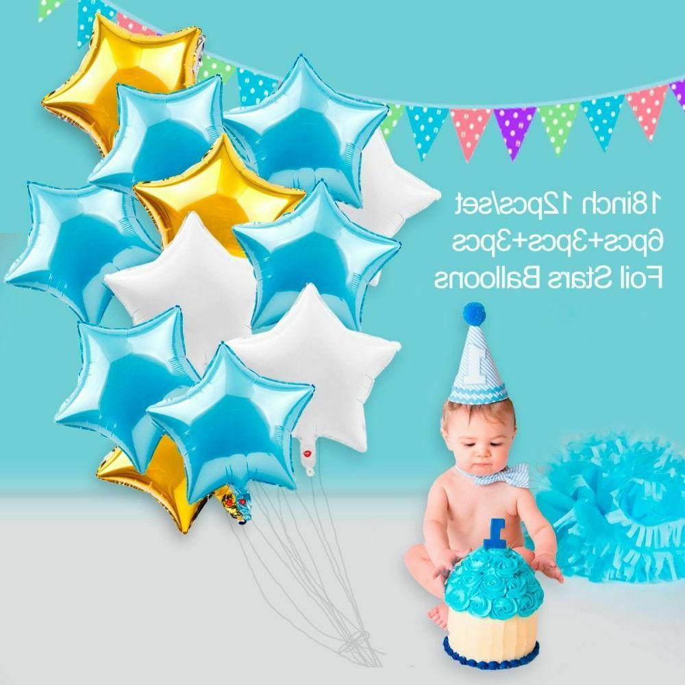 Kids My 1st Birthday Blue Party Balloons