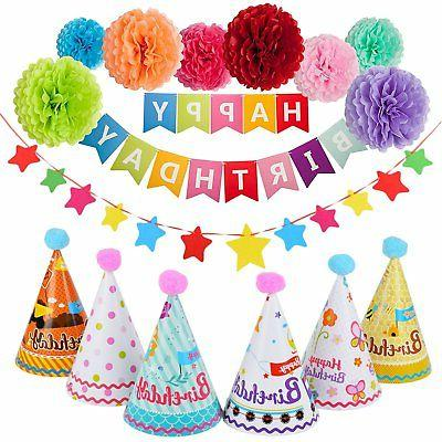 birthday party decorations 6 pcs party hats