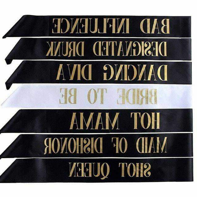Bride To Bachelorette Sashes For Wedding Supplies 7pcs