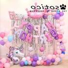 Bright Unicorn Party Latex Balloons Happy Birthday Party Dec