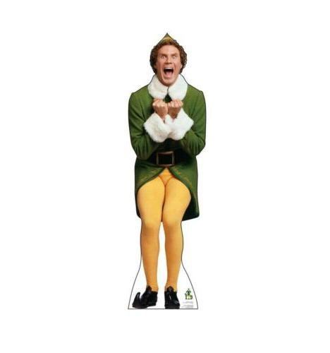 buddy the elf excited life size cardboard