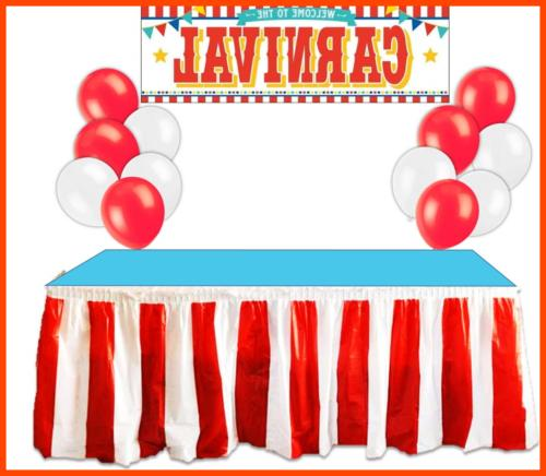 Carnival Circus Decorations RED & Striped Table