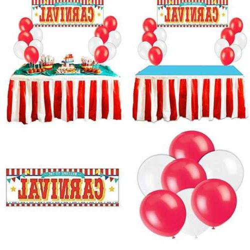 carnival circus party supplies decorations red
