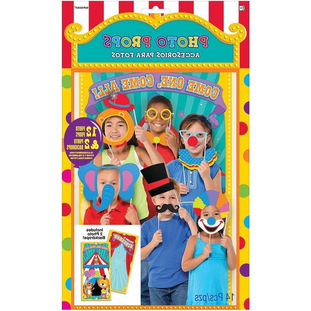 carnival photo booth props kit party clowns