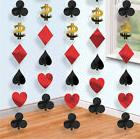 Casino Party hanging string decorations Cards Vegas Poker Pl