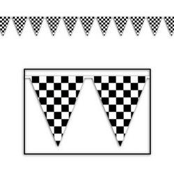 Checkered Outdoor Pennant Banner  Party Accessory