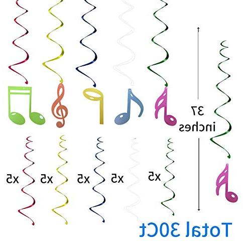 30Ct Sign Music Sign Birthday Supplies Decors