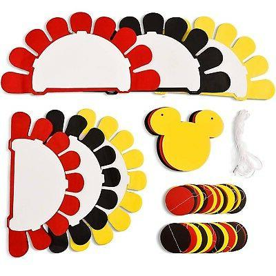 Threemart Colorful Party Supplies Yellow Black Mickey Baby ... New