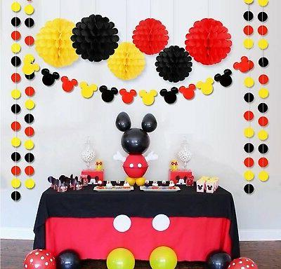 Threemart Colorful Party Yellow Red Mickey Baby New