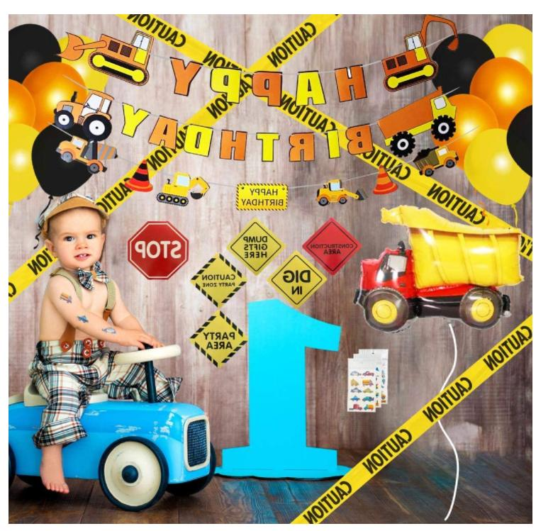 Construction Birthday Supplies,Birthday Decorations Boys, pack