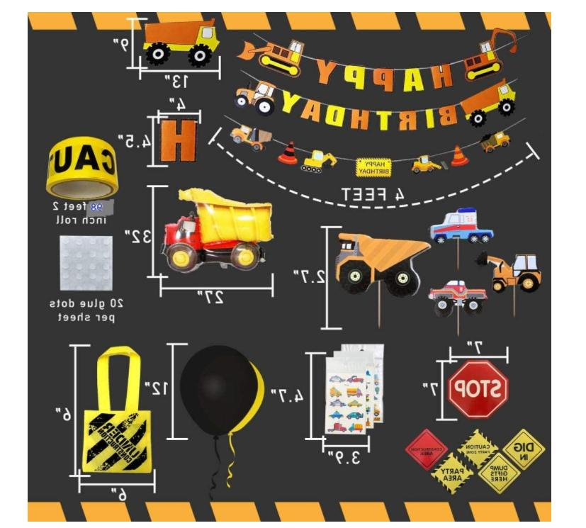 Construction Party Supplies,Birthday Decorations for 103 pack