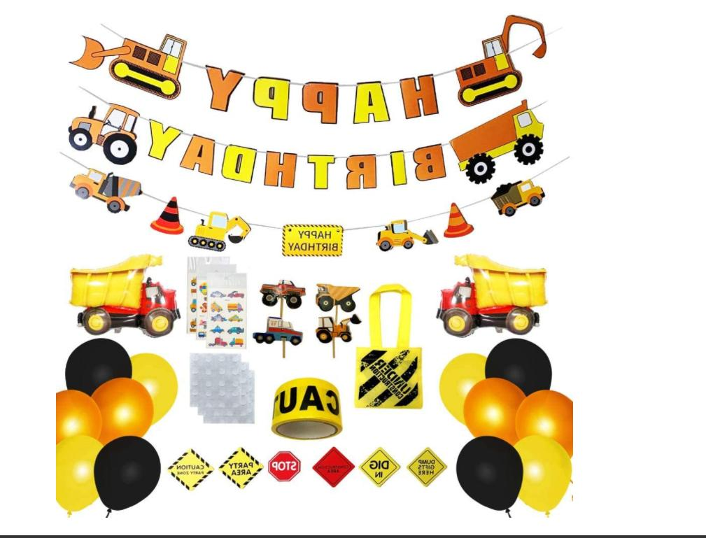 construction birthday party supplies birthday decorations