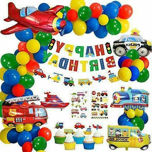 construction party decorations boys happy birthday banner