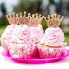 Cupcake Toppers for Girls' Party Glitter Princess Crown Part