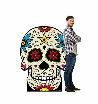 day of the dead skull cardboard cutout