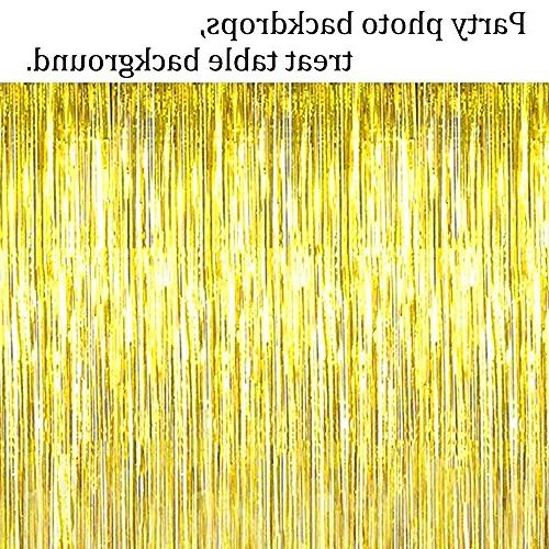 Party Metallic Fringe Curtain Party Gold Backdrop Wall Decoration Back Drop Glitter for Happy Birthday Gold String