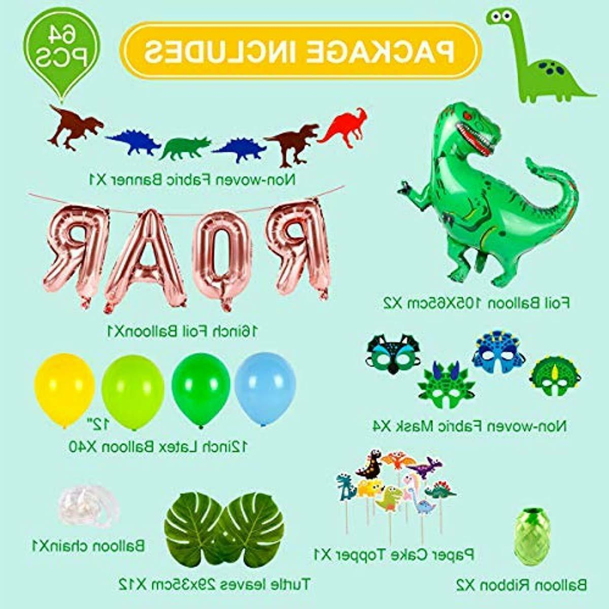Dinosaur Party Birthday Decoration Kids Banner
