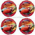 "Disney Cars Birthday Champ 18"" Foil Mylar Balloons 4x Party"