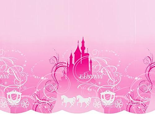 """Disney Table Cover , Pink, x 96""""."""
