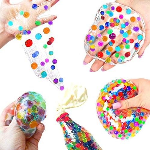 Crystal Kit Comes with 18 Foam Balls, Water Beads, Fresh Decoration, Paper, Glitter Jars, for